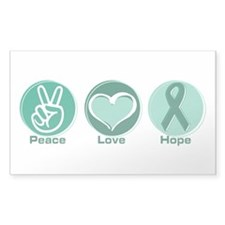 Peace Love Green Hope Rectangle Sticker 10 pk)