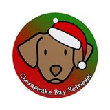 Toon Chesapeake Bay Retriever Christmas Ornament