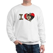 I heart wolves Sweater