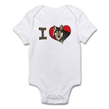 I heart wolves Infant Bodysuit