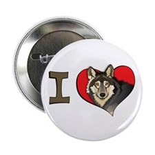 "I heart wolves 2.25"" Button"