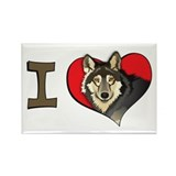 I heart wolves Rectangle Magnet (100 pack)