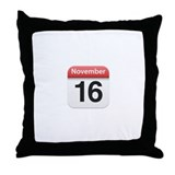 Apple iPhone Calendar November 16 Throw Pillow