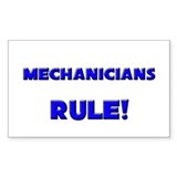 Mechanicians Rule! Rectangle Decal