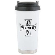proud soccer dad Ceramic Travel Mug