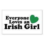 Everyone Loves an Irish Girl Rectangle Sticker