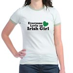 Everyone Loves an Irish Girl Jr. Ringer T-Shirt