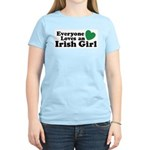 Everyone Loves an Irish Girl Women's Pink T-Shirt