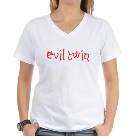Evil Twin Womens V-Neck T-Shirt