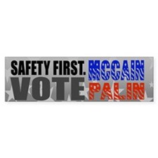McCain Palin Safety First Bumper Bumper Sticker