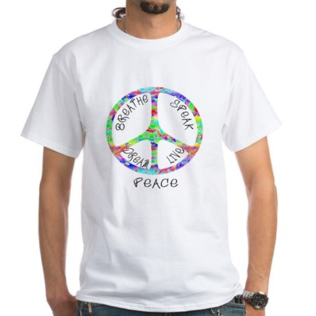 Live Peace White T-Shirt