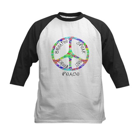 Live Peace Kids Baseball Jersey