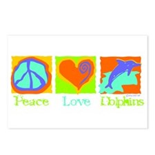 Peace Love Dolphins Postcards (Package of 8)
