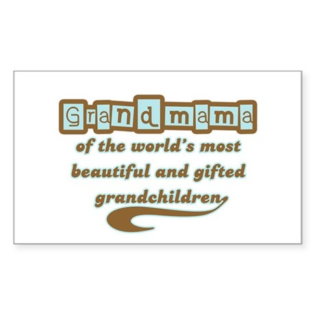 Grandmama of Gifted Grandchildren Sticker (Rectang