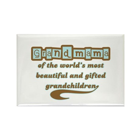 Grandmama of Gifted Grandchildren Rectangle Magnet