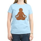Meditating Gingerbread Man Tee (Fitted, Light)