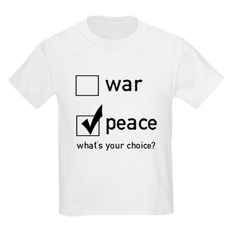 Choose Peace Kids T-Shirt