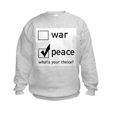 Choose Peace Kids Sweatshirt