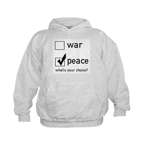 Choose Peace Kids Hoodie