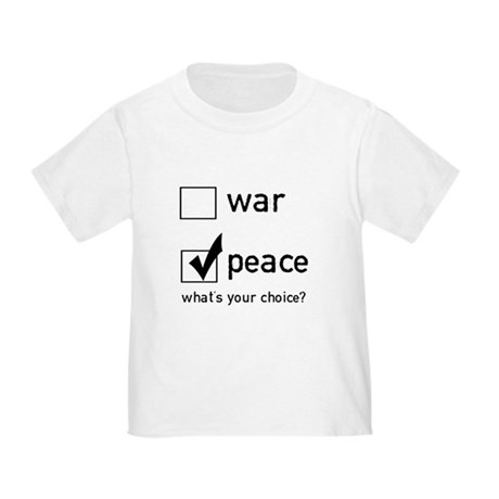 Choose Peace Toddler T-Shirt