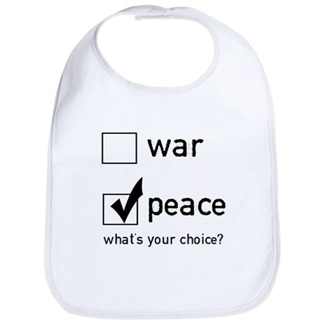 Choose Peace Bib