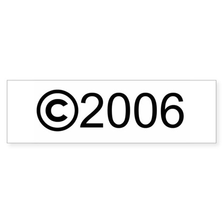 Copyright 2006 Bumper Sticker (10 pk)