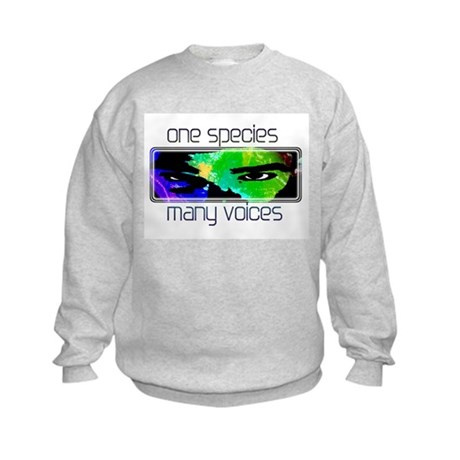 One Species Many Voices Kids Sweatshirt