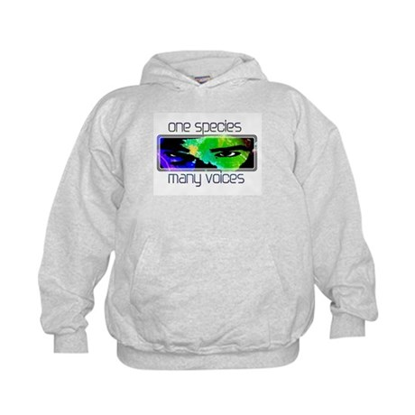 One Species Many Voices Kids Hoodie