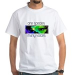 One Species Many Voices White T-Shirt
