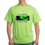 One Species Many Voices Green T-Shirt