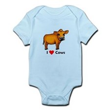 I Love Cows Infant Bodysuit