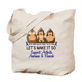 See Speak Hear No Arthritis 2 Tote Bag
