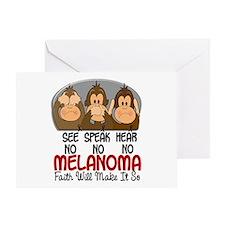 See Speak Hear No Melanoma 1 Greeting Card