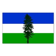 Cascadia bumper Rectangle Decal
