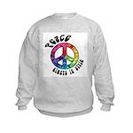 Peace Always in Style Kids Sweatshirt