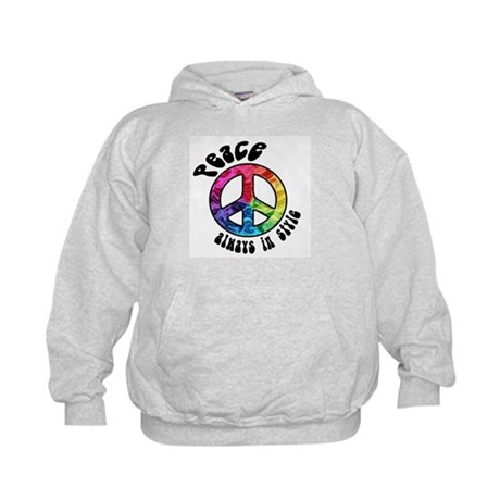 Peace Always in Style Kids Hoodie