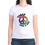 Peace Always in Style Jr. Ringer T-Shirt