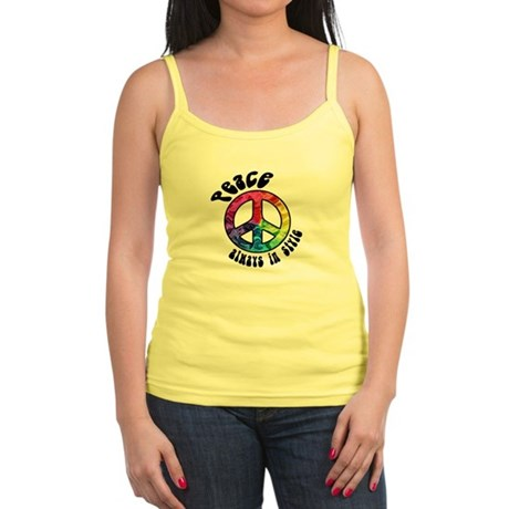 Peace Always in Style Jr. Spaghetti Tank
