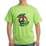 Peace Always in Style Green T-Shirt