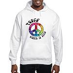 Peace Always in Style Hooded Sweatshirt