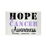 General Cancer Awareness Rectangle Magnet