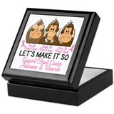 See Speak Hear No Breast Cancer 2 Keepsake Box