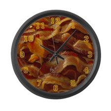 I Love Bacon Large Wall Clock