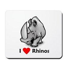 I Love Rhinos Mousepad