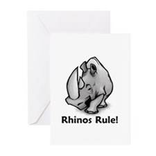 Rhinos Rule! Greeting Cards (Pk of 20)