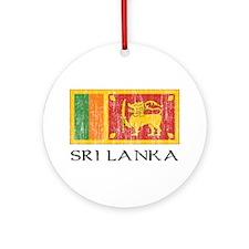 Sri Lanka Flag Ornament (Round)