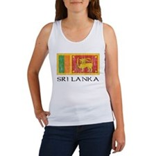 Sri Lanka Flag Women's Tank Top