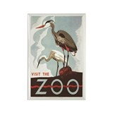 Visit the Zoo; Heron - Magnet 20ct