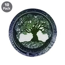 "Tree of Life Mandala 3.5"" Button (10 pack)"
