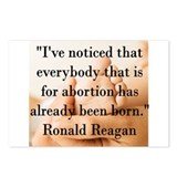 Reagan on Abortion Postcards (Package of 8)